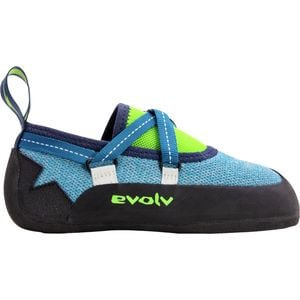 Venga Climbing Shoe - Kids' Blue/Neon Green, 5.0 - Excellent