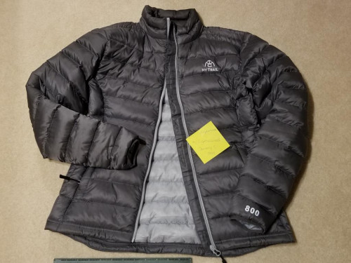 NEW WITH TAG MyTrailCo Women's XS 800fp Down Puffy Jacket Granite Grey
