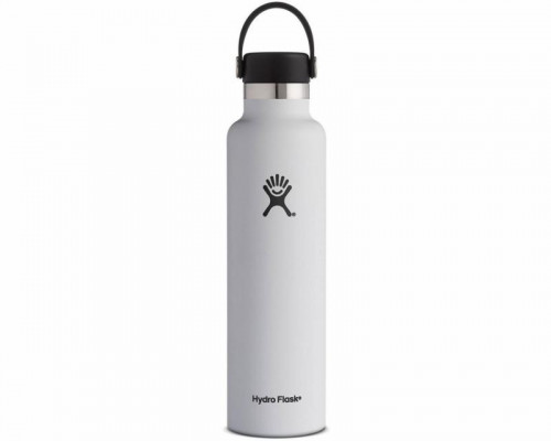 Hydro Flask 24oz Standard Mouth Water Bottle- WHITE