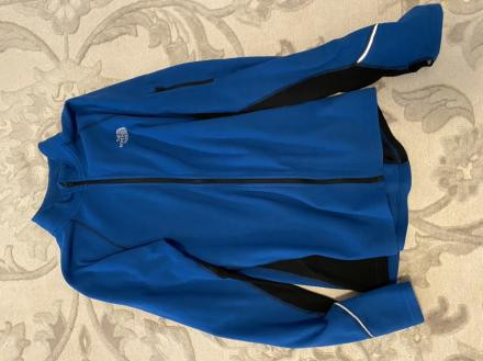 Men's medium blue fleece jacket
