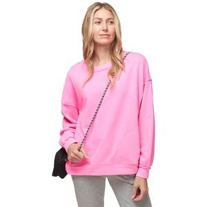 Solid Metti Crew Sweatshirt - Women's Dark Pink, S - Good