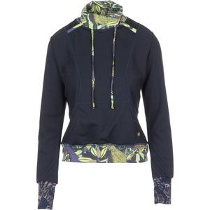 Megalong Valley Pullover Hoodie - Women's Black/Green, M - Excellent
