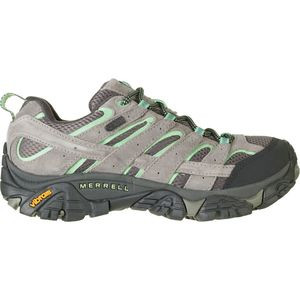 Moab 2 Waterproof Hiking Shoe - Women's Drizzle/Mint, 8.5 - Excellent