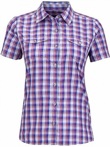 Women's Marmot Bree Button Up Purple Plaid Shirt