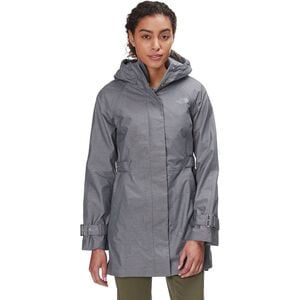 City Breeze Rain Trench Jacket - Women's Tnf Medium Grey Heather, L - Good