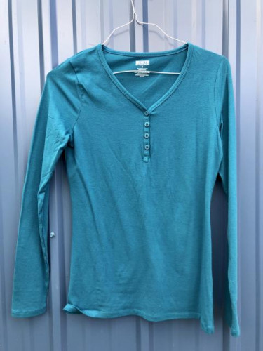 Duluth Trading Company- Women's Small Long Sleeve Deep Turquoise