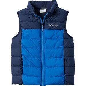 Powder Lite Puffer Vest - Boys' Bright Indigo/Collegiate Navy, M - Excellent