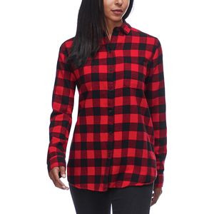 Eco Rich Pemberton Boyfriend Shirt - Women's Old Red Check,M - Like New