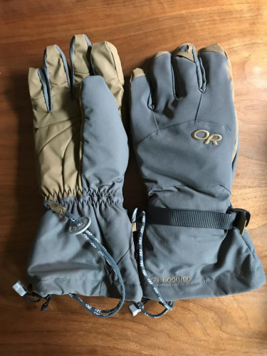 Outdoor Research Alti Gore-tex Expedition Gloves.