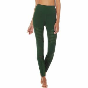 High-Waist Moto Legging - Women's Forest/Forest Glossy, M - Excellent