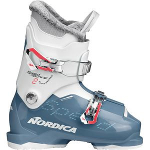 Speedmachine J 2 Ski Boot - Girls' Light Blue/White, 19.5 - Good