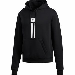 Solid Pillar Hoodie - Men's Black/White, L - Excellent