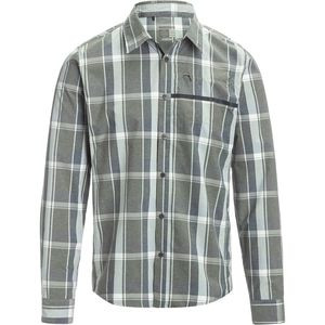 Transit Check Button Up Long-Sleeve Shirt - Men's Navy, XL - Fair