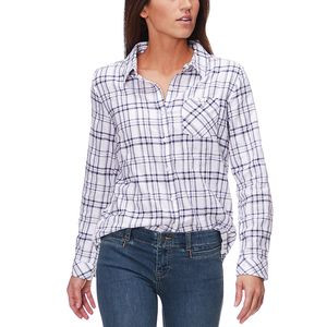 Airy Woven Shirt - Women's Bone Plaid, XL - Good