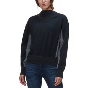 Color Blocked Long-Sleeve Sweatshirt - Women's Black/Pewter, M - Good
