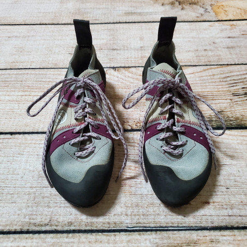 Women's Grey & Purple Helix Lace Rock Climbing Shoes