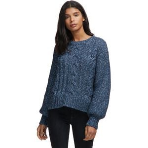 Cable Knit Bell Sleeve Sweater - Women's Blue, XS - Excellent
