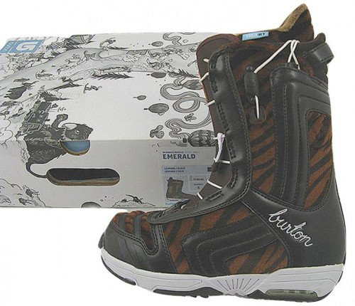 NEW Burton Emerald Snowboard Boots! US 5 UK 3 Euro 35  Tiger Print