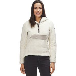 Campshire Hooded Pullover Fleece Jacket - Women's Vintage White/Silt Grey, XS - Excellent