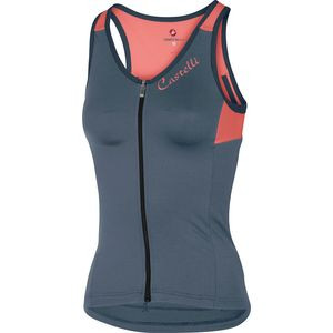 Solare Sleeveless Jersey - Women's Dark Steel Blue/Salmon, S - Excellent