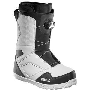 STW BOA Snowboard Boot - Men's White/Black, 8.5 - Good