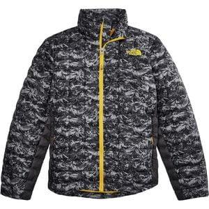 ThermoBall Insulated Jacket - Boys' Graphite Grey Geo Mountain Print, L - Excellent