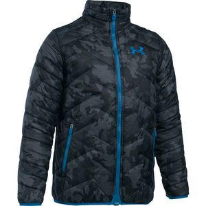 Coldgear Reactor Insulated Jacket - Boys' Steel/Cruise Blue/Cruise Blue, L - Excellent