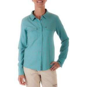 Sidesaddle Plaid Shirt - Long-Sleeve - Women's Turquoise, XL - Good