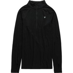Merino Blend 1/4 Zip Baselayer Top - Men's Black, M - Excellent