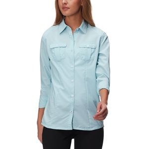 Provo River Long-Sleeve Sun Shirt - Women's Blue Heather, S - Good