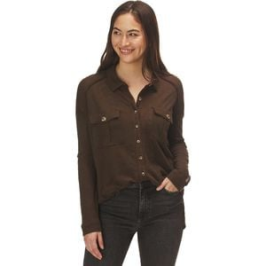 Penelope Buttondown Shirt - Women's Army,XS - Good