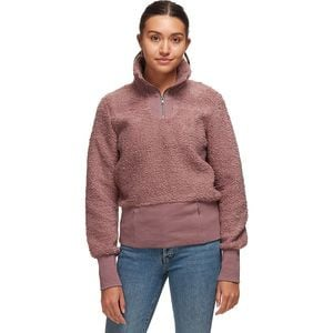Cozy Teddy Sherpa 1/4-Zip Pullover - Women's Twilight Mauve, XS - Excellent