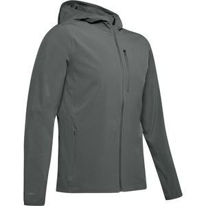Outrun The Storm V2 Jacket - Men's Pitch Gray/Pitch Gray/Reflective, L - Excellent