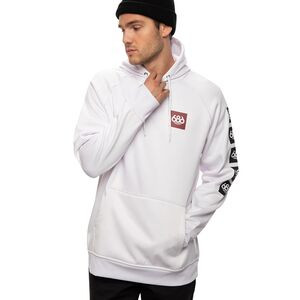 Bonded Fleece Pullover Hoodie - Men's White, M - Excellent