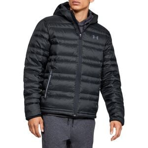 Armour Down Hooded Jacket - Men's Black/Pitch Gray, M - Like New