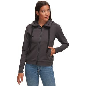 Full-Zip Stretch Hoodie - Women's Black, XL - Like New