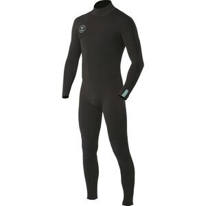 7 Seas 4/3 Back-Zip Full Wetsuit - Men's Black, MT - Good