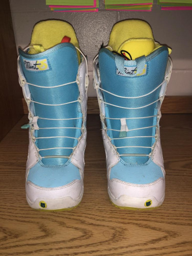 Burton Womens Mint Snowboard Boots US 7.5 Imprint 1 Speed