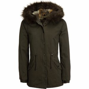 Casual Twill Insulated Jacket - Women's Olive, S - Good
