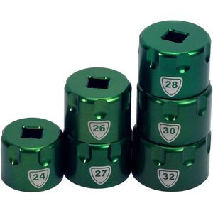 Suspension Top Cap Sockets Green, 32mm - Excellent