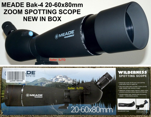 New MEADE Wilderness Spotting Scope 20-60x80mm - NEW IN BOX