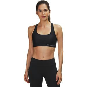 Armour Mid Crossback Sports Bra - Women's Black/Black/Graphite, S - Good