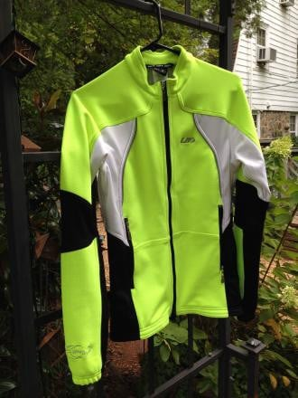 W's Louis Garneau XS Neon Yellow Gemini 2 Winter Jacket