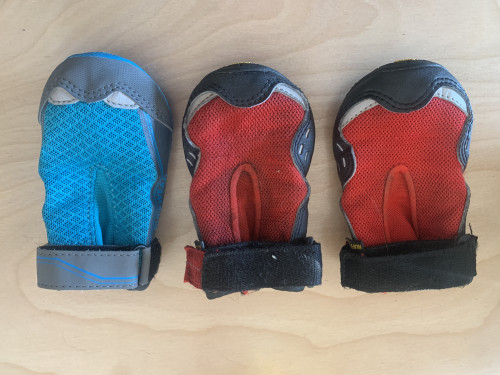 "3 x Ruffwear 2.5"" dog hiking booties"