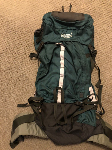 Dana Designs backpack used once on weekend hike in Yellowstone