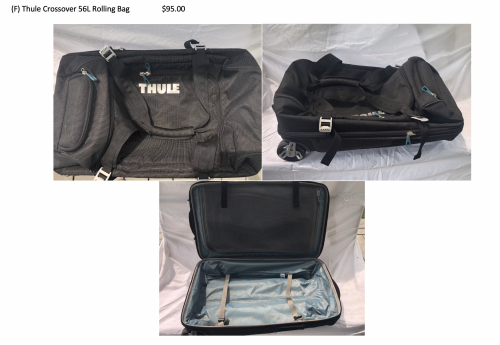 Thule Crossover 56L Rolling Expandable Bag