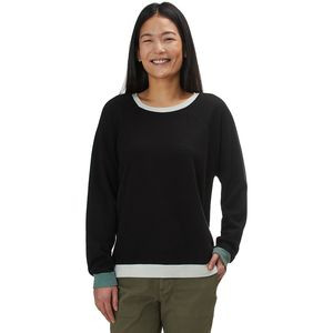 Color Block Oversized Raglan - Women's Black, XS - Good