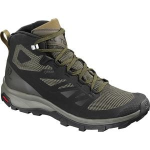 Outline Mid GTX Hiking Boot - Men's Black/Beluga/Capers, US 10.0/UK 9.5 - Good