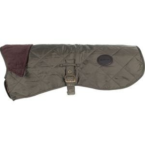 Quilted Dog Coat Olive, L - Excellent