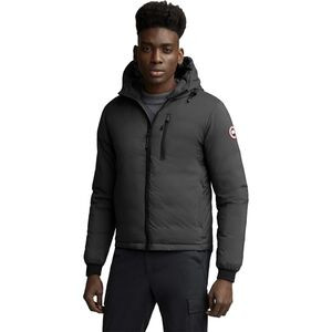 Lodge Matte Finish Down Hooded Jacket - Men's Graphite, XXL - Like New